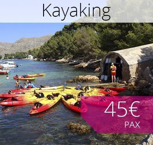 Excursión Kayak Mallorca