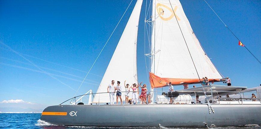 Salida en catamarán desde Palma de Mallorca