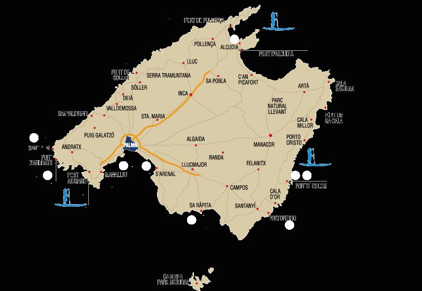 Mapa Jet ski Mallorca