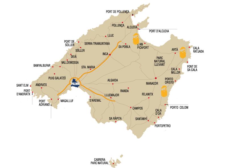 Mapa Tour Pirata Mallorca