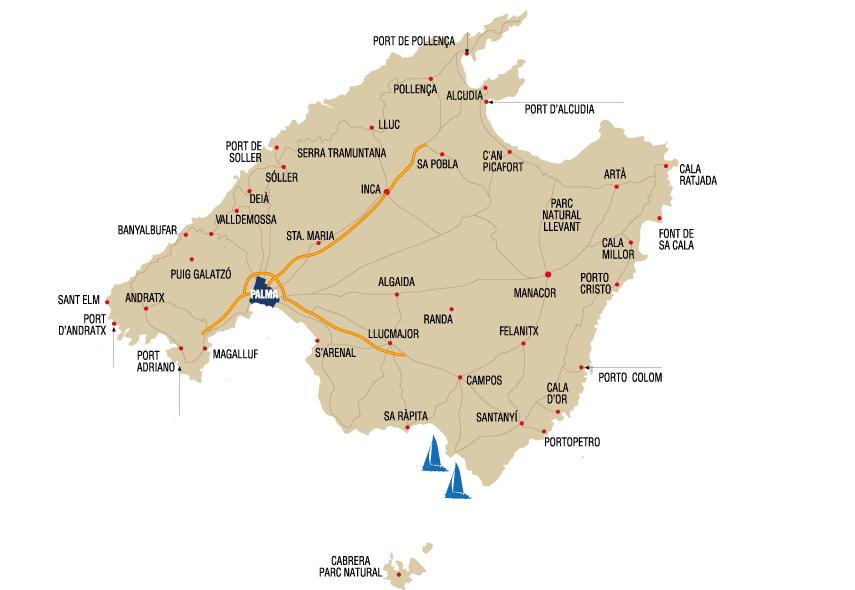 Mapa salidas a Cabrera